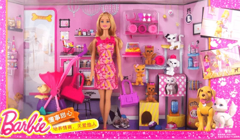 Игровой набор Барби - Прогулка с питомцами