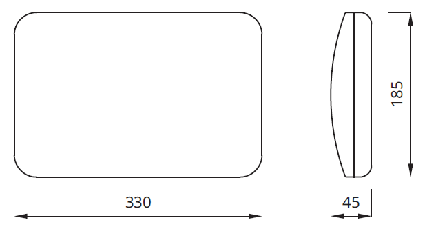 Размер светового настенного указателя выход IP54 Panorama LED Awex