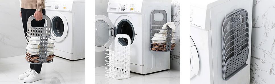 Пластиковая корзина для белья в ванную