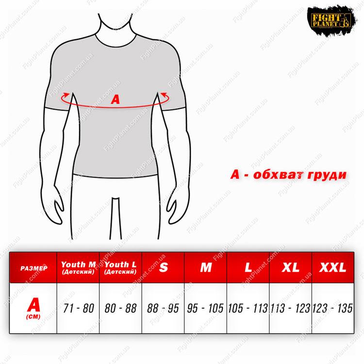 Размерная сетка таблица рашгард Combat Sports
