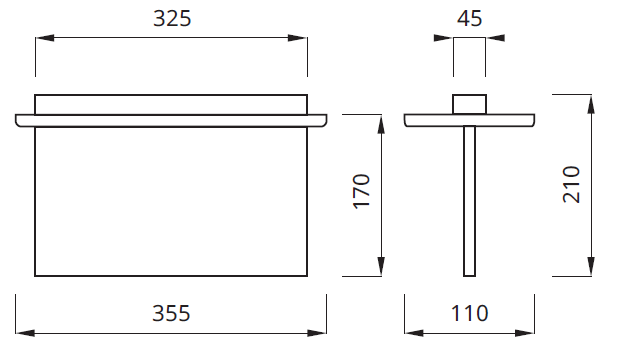 Размер встраиваемого светодиодного аварийного указателя выход Plexi LED Awex