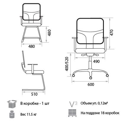 Кресло Нэт размеры