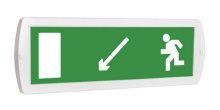 Направление к выходу налево-вниз - световое табло Топаз