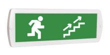 Направление к выходу вверх по лестнице направо - световое табло Топаз
