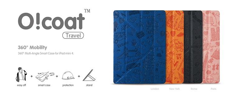 Оригинальныйчехол книжка-трансформер Ozaki O!coat Travel для iPad Mini 4.