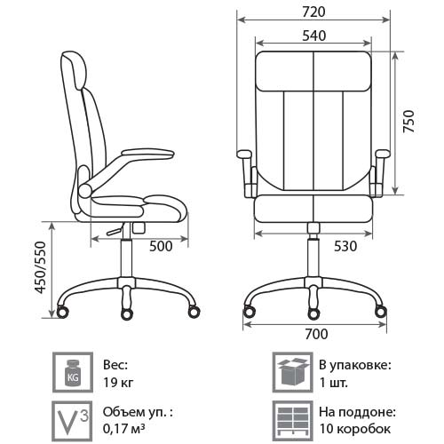 Кресло Фараон размеры