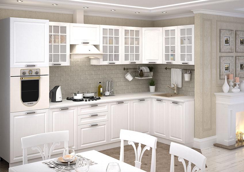 ПРАГА Мебель для кухни (Белый)