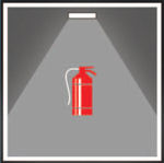 Аварийные светильники устанавливаются в местах размещения средств пожаротушения