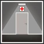 Аварийные светильники устанавливаются перед каждым пунктом медицинской помощи