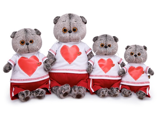 Кот Басик в футболке с сердцем