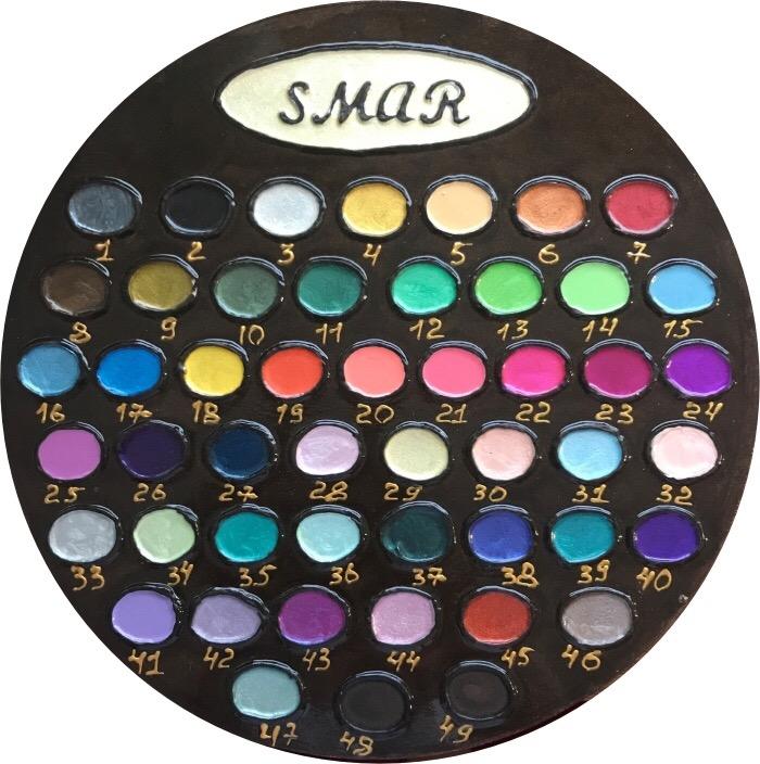 Укомплектованные наборы, состоящие из полной палитры всех цветов определенного вида лаковой краски SMAR одного объема
