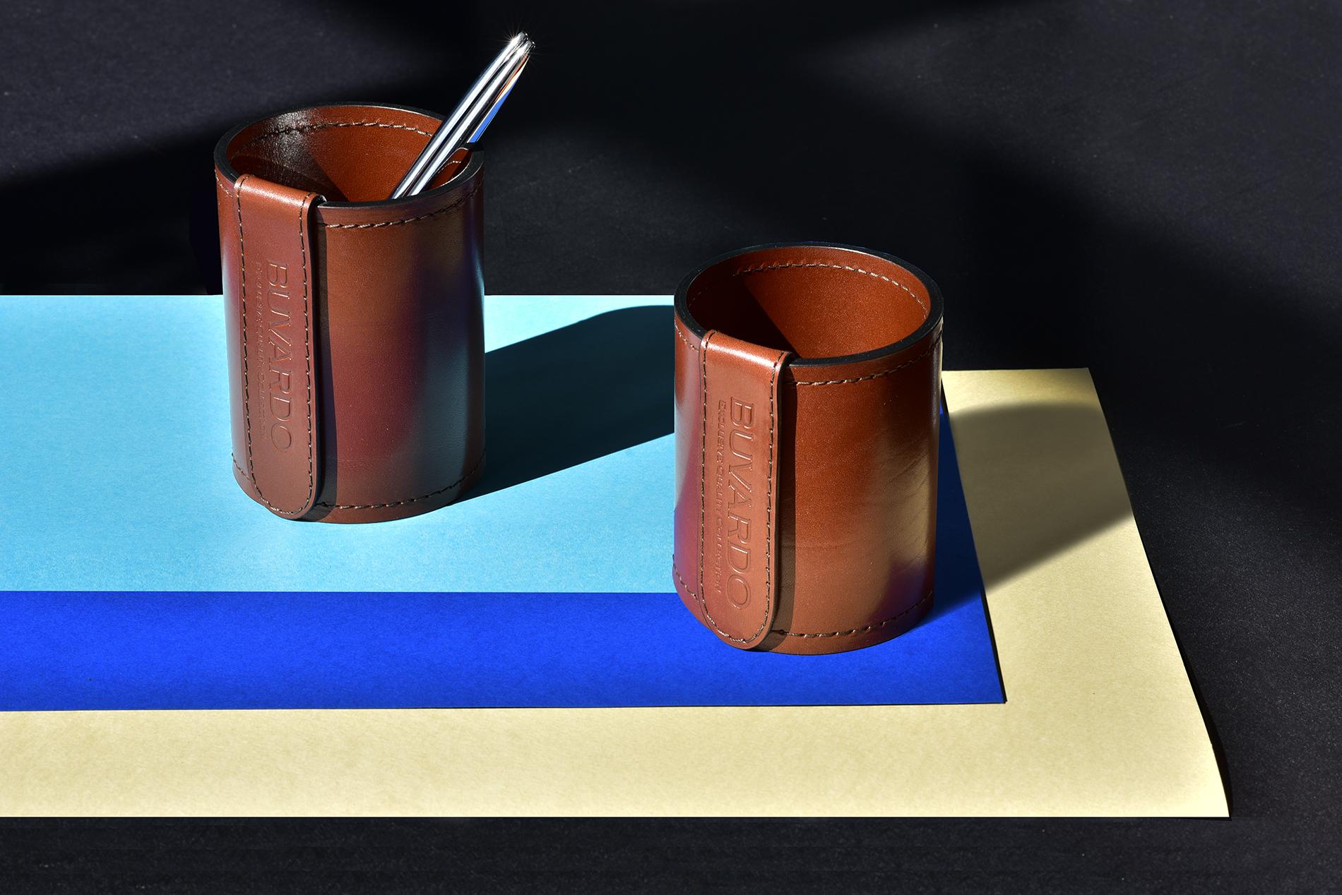Набор офисный для руководителя из кожи категории Full Grain Toscana, цвет Dark Tan.