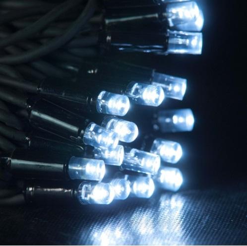 Гирлянда нить светодиодная на каучуковом кабеле купить