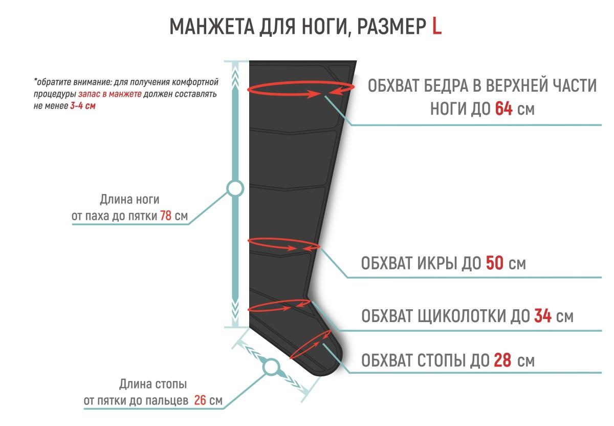 Размеры манжет для ног Gapo Multi-5 Black