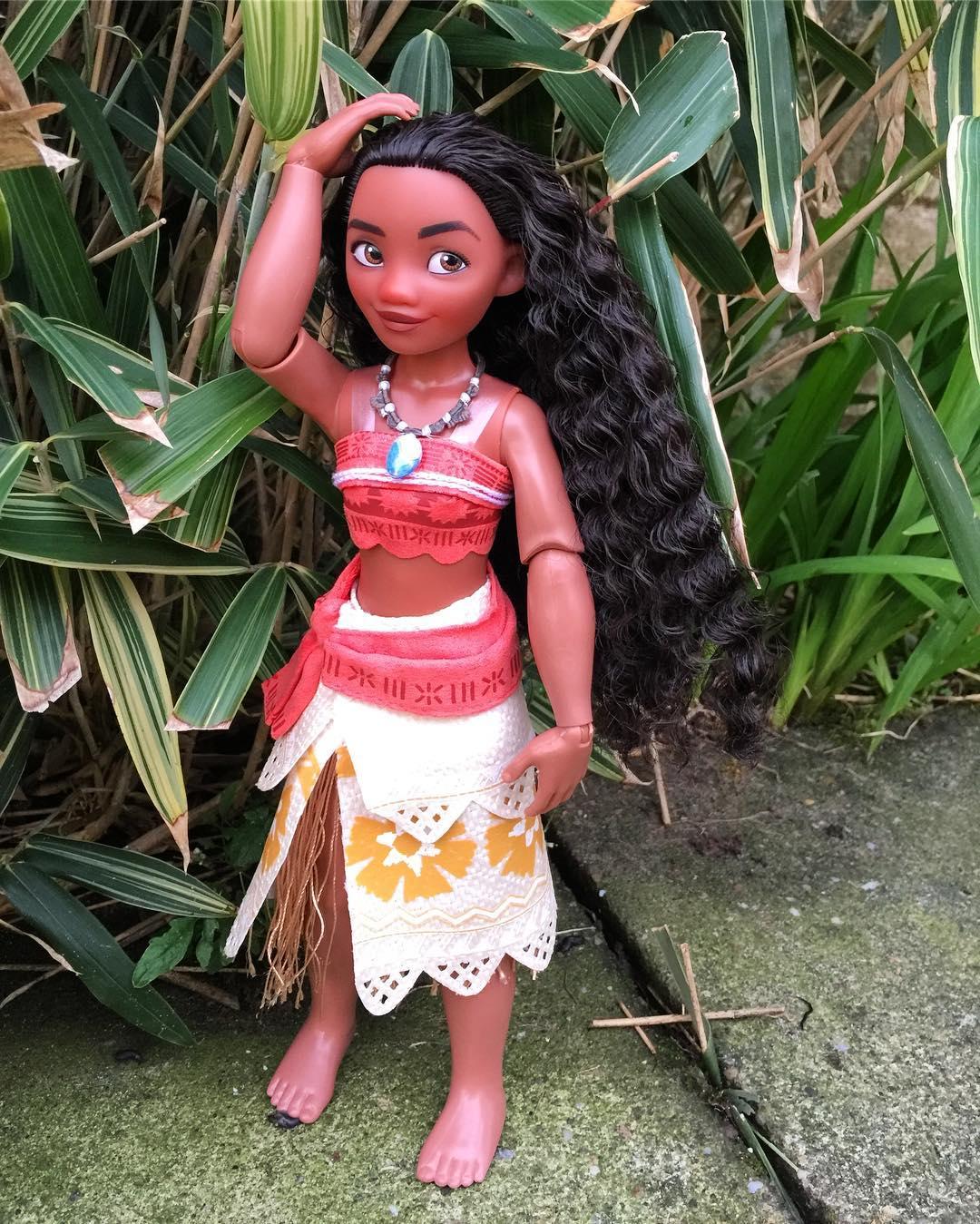 оформления садового фото кукол моаны и барби исполнила так