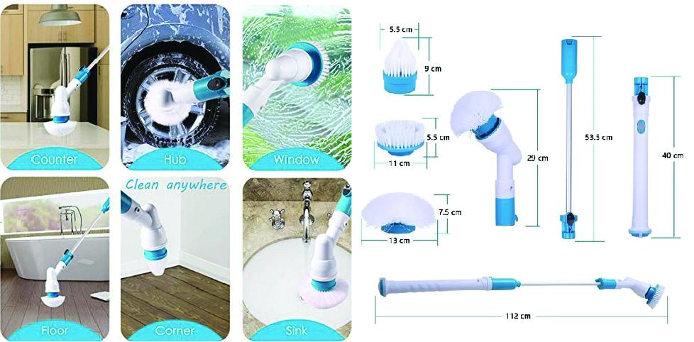 Варианты использования электрощетки Spin Scrubber