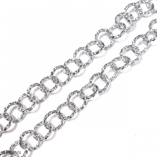 Ажурная цепочка с серебристым покрытием