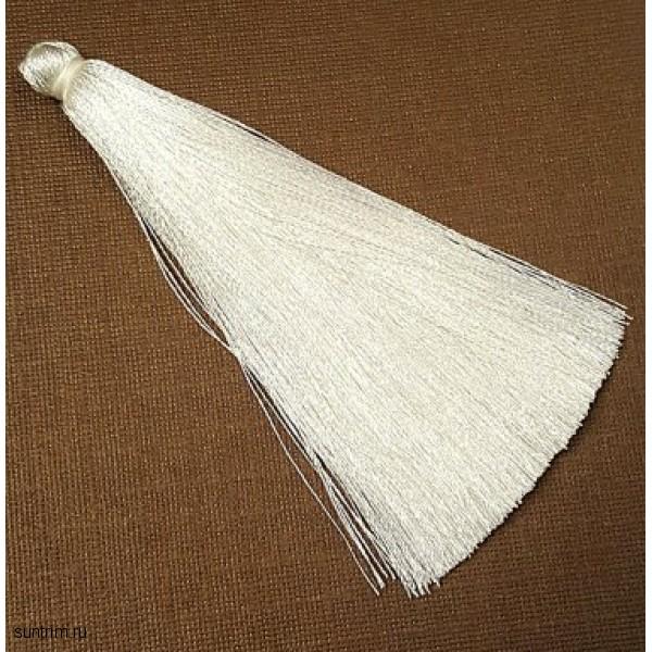 Белая кисточка для украшений