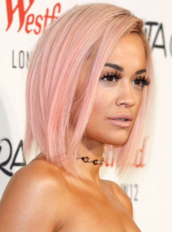 пастельно розовые волосы