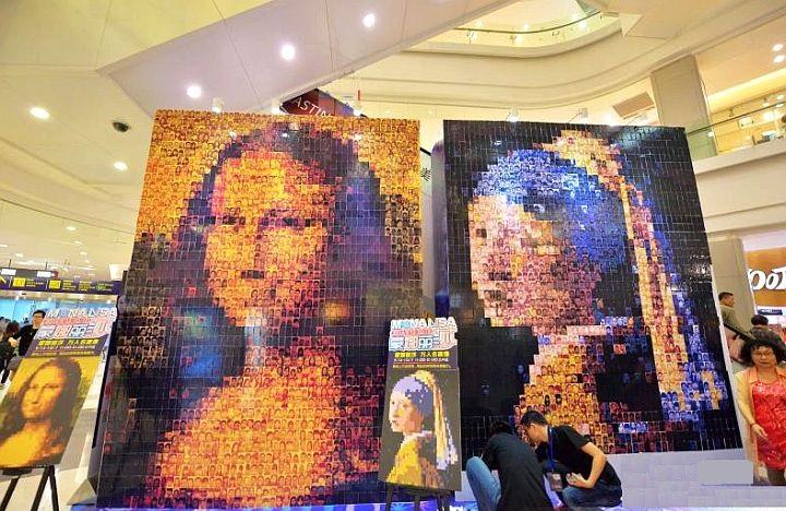 Рекламный портрет из фотографий Мона Лиза