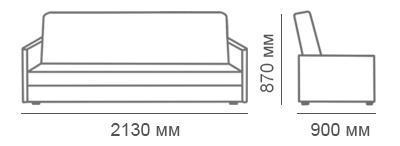 габаритные размеры дивана Браво