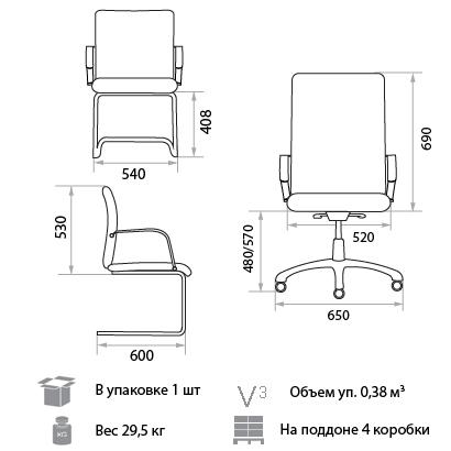 Кресло Сенатор размеры