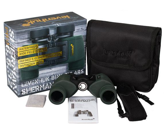 Бинокль Levenhuk Sherman Pro 6,5x32: комплект поставки