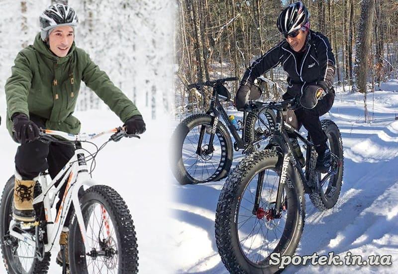 В рукавичках або рукавицях на велосипеді