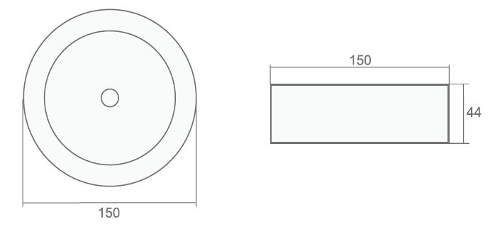 Размеры светодиодного аварийного потолочного светильника серии Starlet External SO