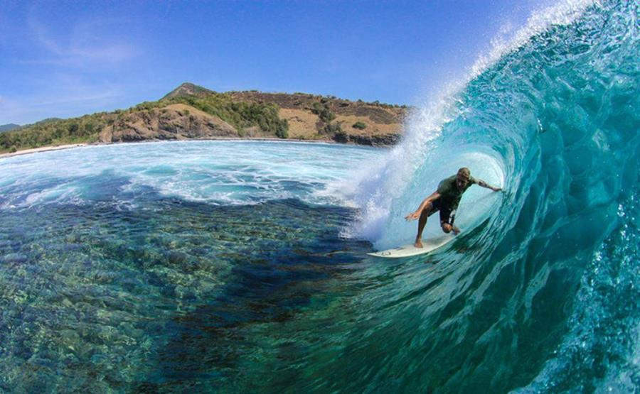 Рифовый спот для серфинга