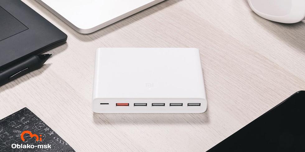 Зарядное устройство Xiaomi Super fast charger with 6 USB ports 60W QC3.0