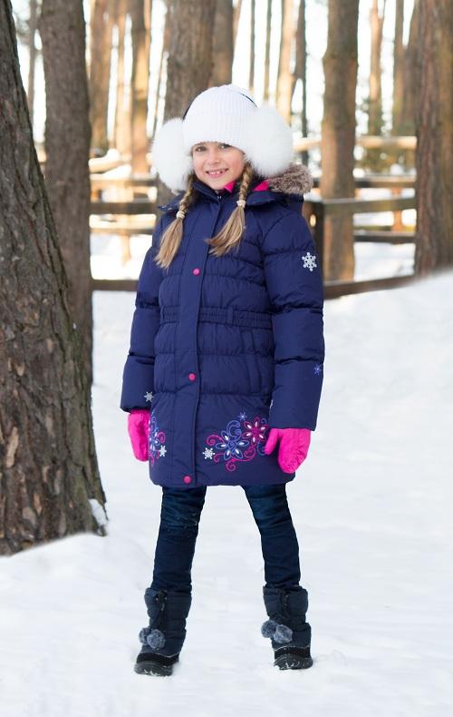 Пальто Premont Маршмеллоу Dark Blue WP91352 для девочек в магазине Premont-shop