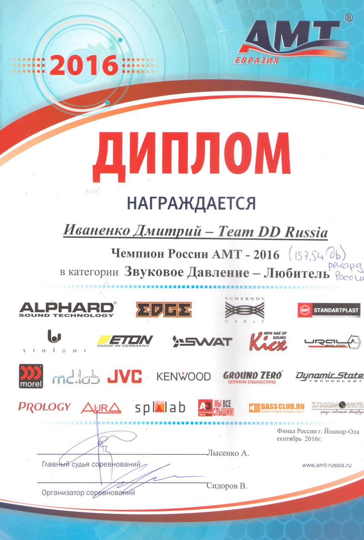 Чемпион России АМТ Финал 2016
