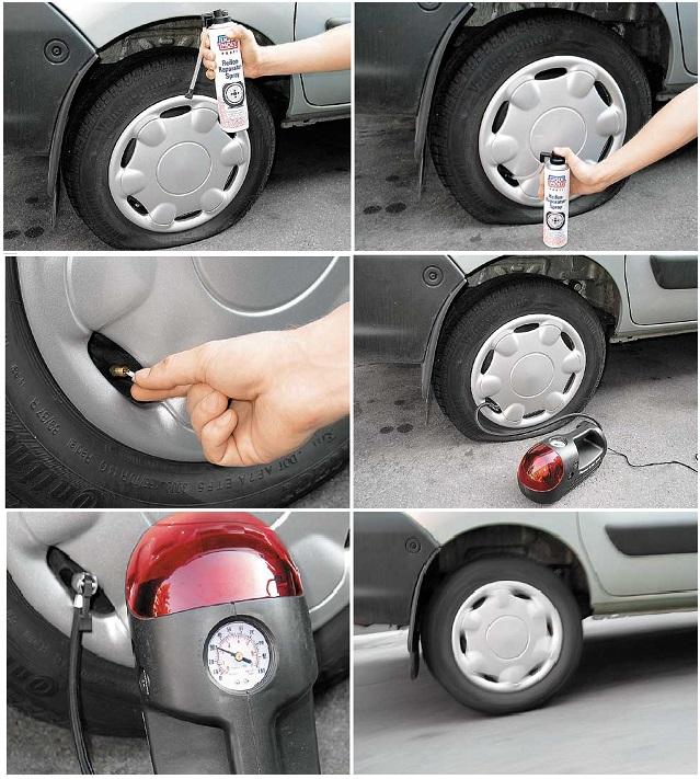 Спрей для ремнта шин. Как правильно использовать