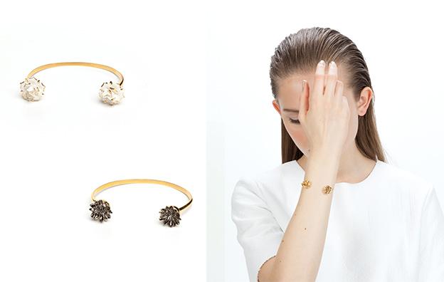 лёгкие тонкие браслеты DOUBLE FLOWER BRACELET от ANDRES GALLARDO
