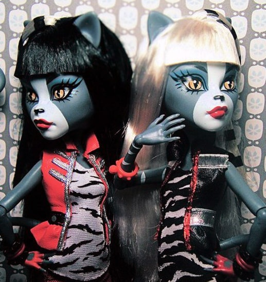 куклы Мяулодия и Пурсефона, Monster High