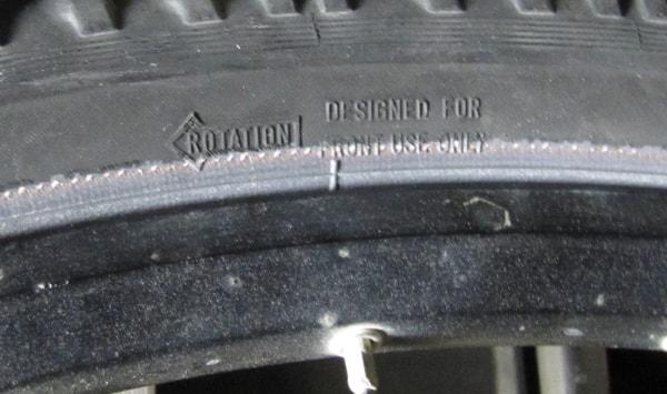 Покришка тільки для переднього колеса