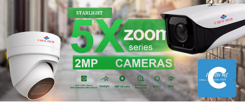Уличная светочувствительная видеокамера CAICO TECH CCTV 5527 STARLIGHT второго поколения CMOS Sony IMX 327 ZOOM 5X 2.7-13.5mm моторизован AVTO FOCUS AVTO IRIS