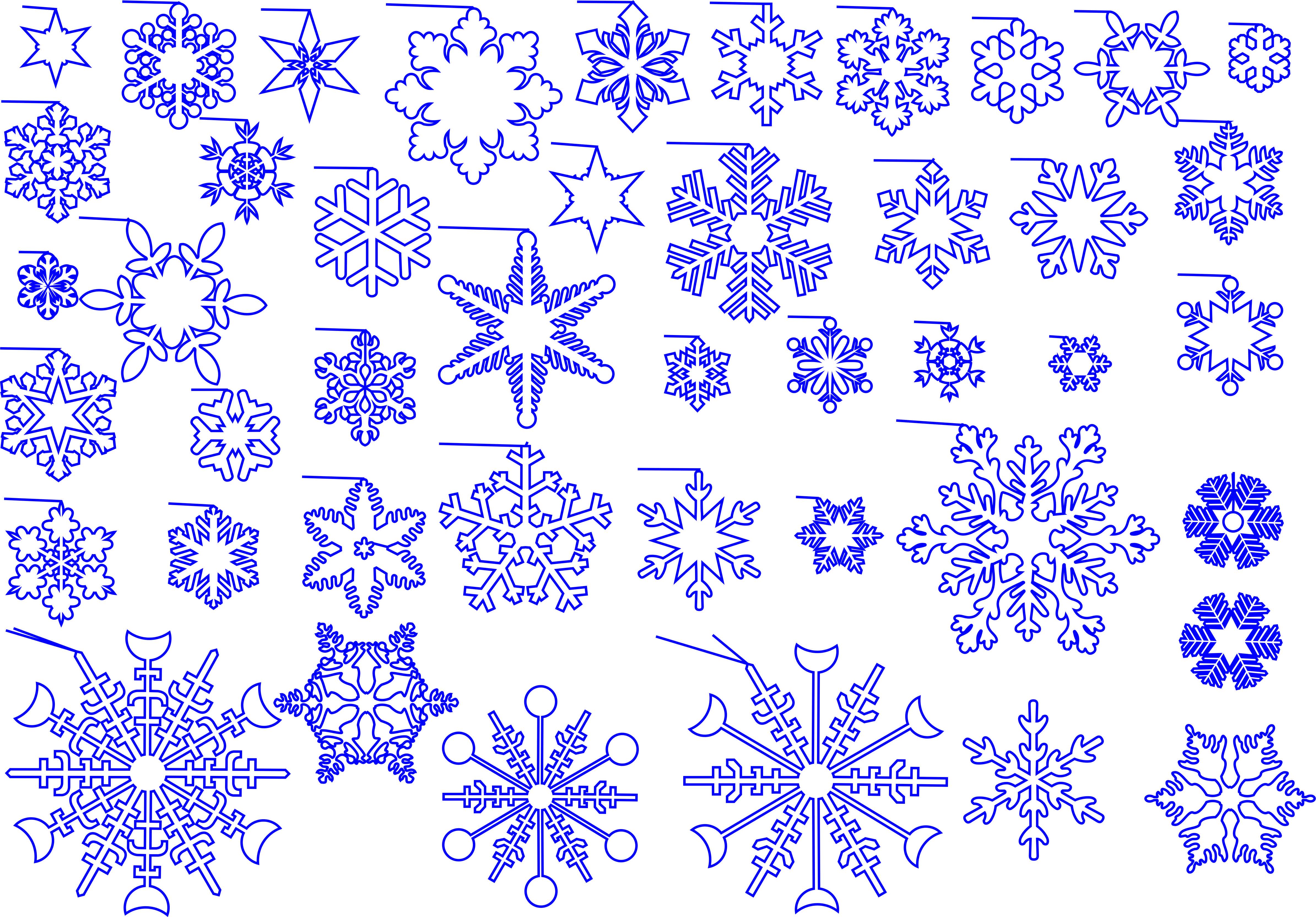 векторные рисунки снежинок купить.