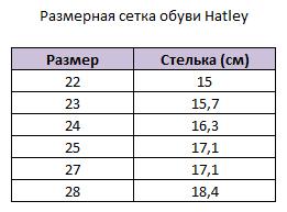 Размерная сетка сапоги Hatley
