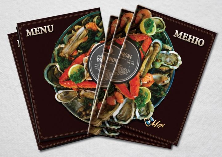 Обложка меню ресторана