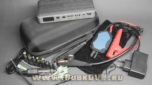 Комплектация пускового устройства для запуска автомобиля Aurora Atom 10