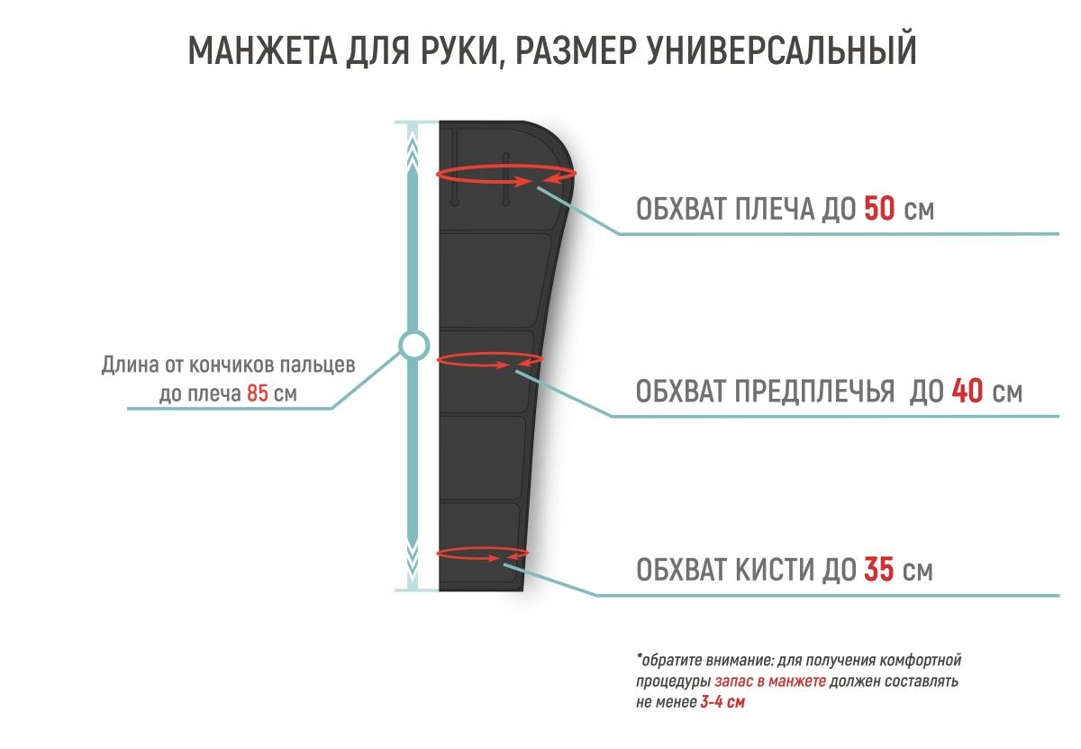 Размеры манжеты для руки Gapo Multi-5 Black