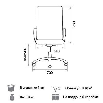 Кресло Гелиос размеры