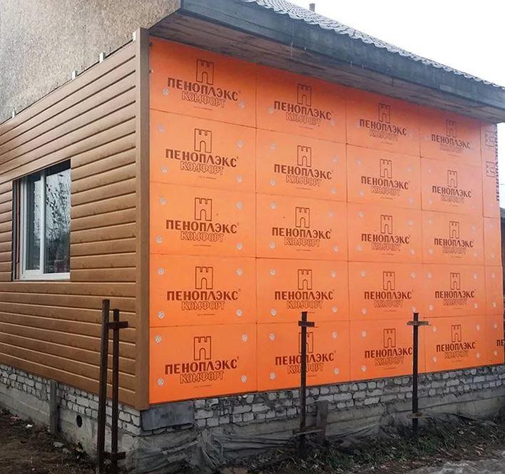 Пеноплэкс Комфорт применение стена