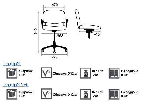 Кресло Изо размеры