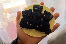 Готовая работа папертоль Букет котят.