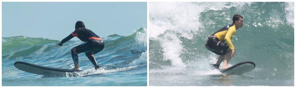 Оттопыренная попа мешает держать баланс в серфинге