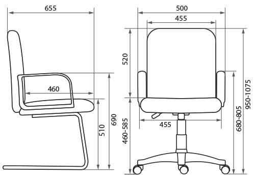 Кресло Кенго размеры