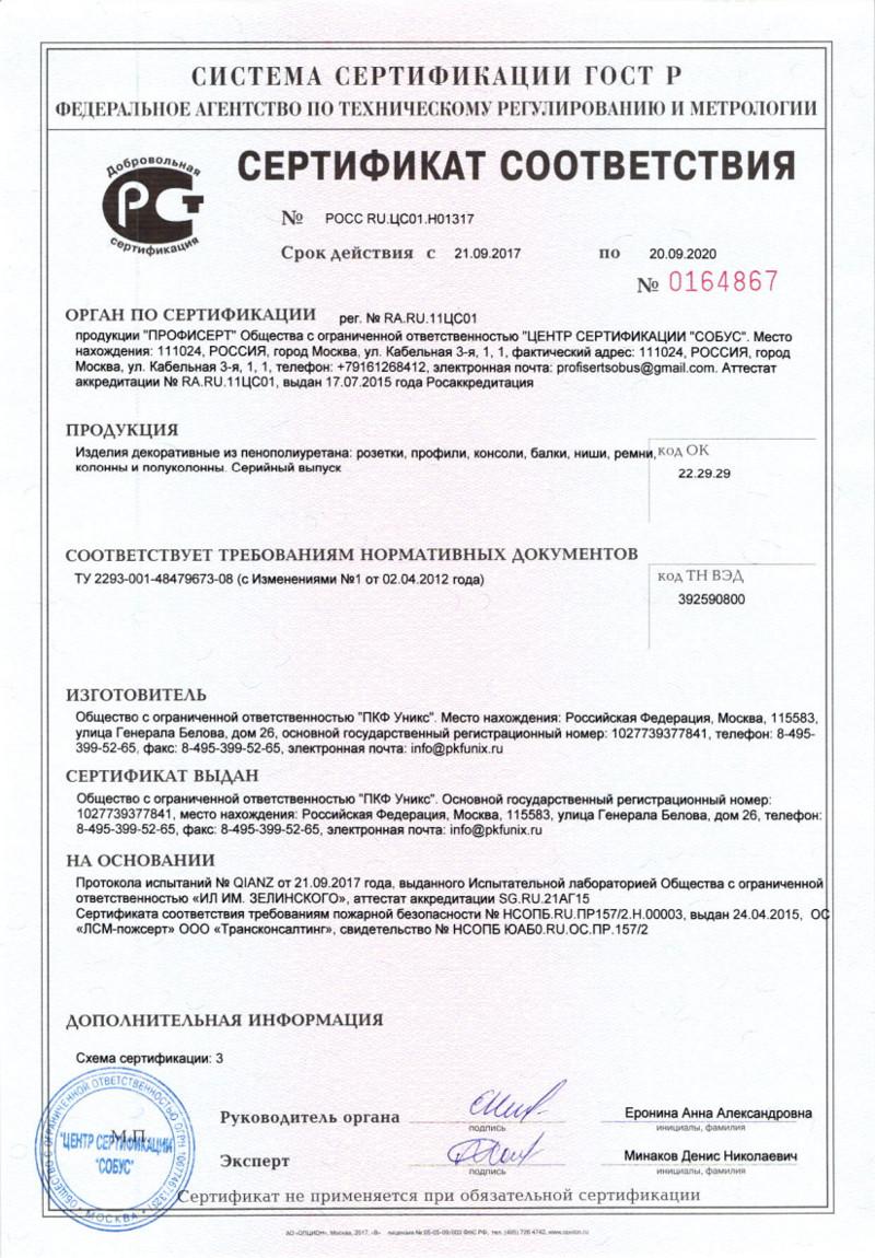 Сертификат соответствия_УНИКС